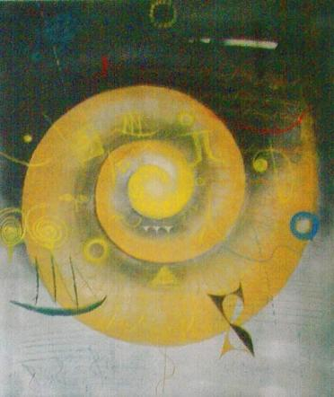 Yellow spiral II
